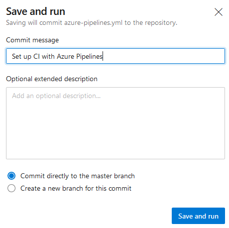 "Commit after ""Save and run"""