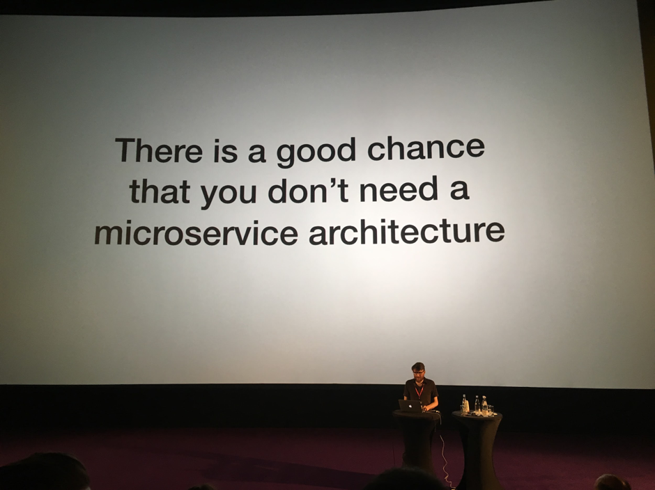 you probably don't need a microservice architecture