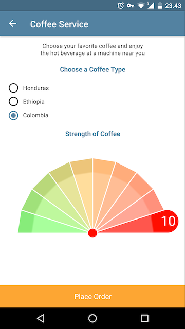 Conference official coffee app