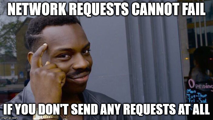 Failing network requests meme
