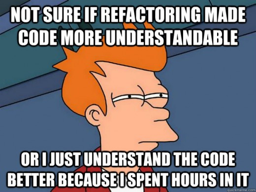 Not sure if refactoring made code more understandable, or I just understand the code better because I spent hours in it.